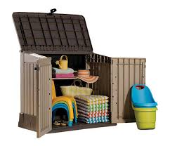 Keter Storage Shed Shelves by Keter Woodland Store It Out Midi Horizontal Storage Unit At Menards