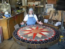 48 mosaic dining table by barnwoodbarney lumberjocks