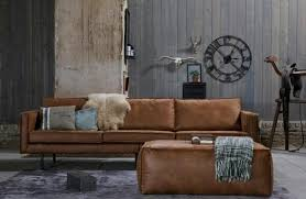 sofa 3 sitzer leder be home braun bei möbelhaus