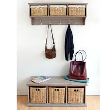 TETBURY Hallway Shelf With Coat Rack And Wicker Baskets Bench Available BARGAIN