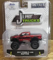 JADA TOYS JUST Trucks Red 2017 Ford F-150 Raptor Nip 1:64 Scale ...