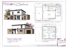 plan maison 4 chambres etage plan maison 120m2 4 chambres etage immobilier pour tous