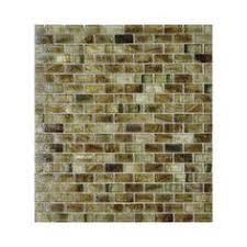American Olean Chloe Mosaic Tile by American Olean 12 In X 12 In Delfino Stone Smokey Topaz Mixed