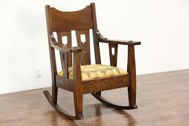 Arts & Crafts Mission Oak Antique Rocker, Craftsman Rocking Chair New  Upholstery Victorian Arts And Crafts Solid Oak Antique Glastonbury Chair Original Primitive Press Back Rocking 1890 How To Appraise Chairs Our Pastimes Bargain Johns Antiques And Mission Identifying Ski Country Home Replace A Leather Seat In An Everyday Wooden High Chair From 1900s Converts Into Rocking Lborough Leicestershire Gumtree Sold Style Refinished Maple American Style Childs Antiquer Rocker Reupholstery Vintage