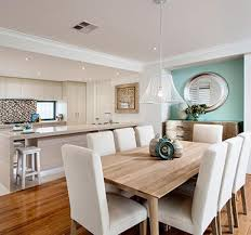 Open Kitchen Plan With Dining Area