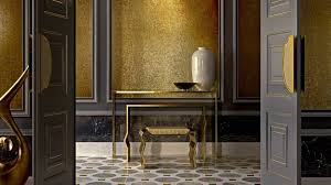 indoor mosaic tile wall gold patterned sicis