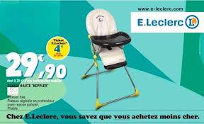 siège auto bébé chez leclerc rehausseur chaise leclerc chaise haute chaise haute brevi convivio
