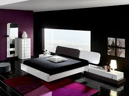 Bedrooms Colors Design Impressive Decor Bedroom Color Idea Dark And Bright Theme Is Take Violet Black Also White