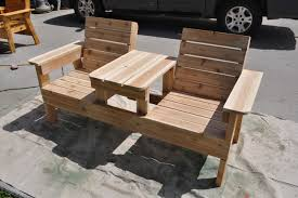 best outdoor bench with table exterior long diy solid wood picnic
