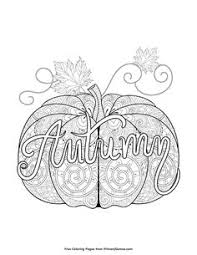 Fall Coloring Page Autumn Pumpkin Zentangle