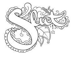 Sweary Coloring Page