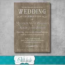 Rustic Elegant Wedding Invitation DIY By OohlalaPoshDesigns 1200