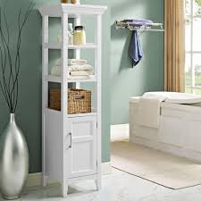 Bathroom Linen Tower With Hamper by Bathroom Linen Tower Shelf Cabinet Best Bathroom Decoration