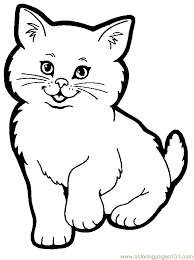 Fashionable Cat Coloring Pages To Print Cats Colour And