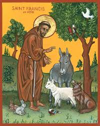 st francis blessing the animals painting by connie wendleton