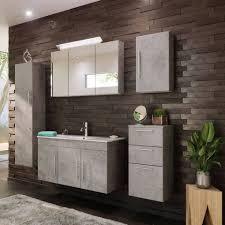 lomadox badmöbel set tabris spar set badmöbel mit 100cm waschtisch 02 in beton optik grau b h t 200 200 46cm kaufen otto