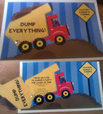 Dump Truck Birthday Party Invitations- SO CUTE!!! | Birthday General ... Mud Trifle And A Dump Truck Birthday Cake Design Parenting Diy Awesome Party Ideas Pinterest Truck Train Cookies Firetruck Dump Kids Cassie Craves Dirt In Cstruction With Free Printable Shirt Black Personalized Stay At Homeista Invitations Dolanpedia The Mamminas A Garbage Ideal For Anthonys Our Cone Zone