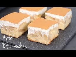 apfel blechkuchen mit schmand und zimt kuchen