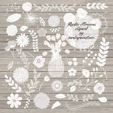 Rustic Flowers Clipart Illustrations Creative Market