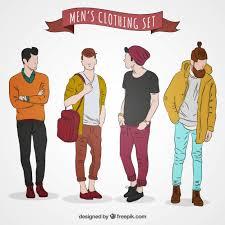 Modern Mens Clothing Premium Vector