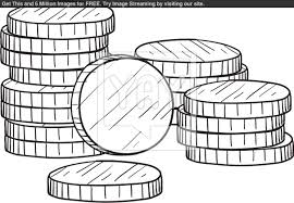 Coins Coloring Page New Coin Pages