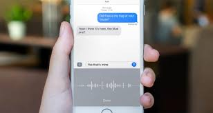 Dictate messages use audio to dictate text