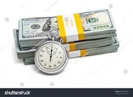 Time Money Loan Concept Background Stopwatch Stock