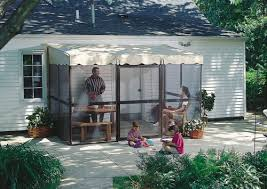 Patio Mate Screen Enclosure by Patio Mate Screened Enclosure 88 Sq Ft Chestnut Frame Almond