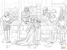 Click The Jesus Boy In House Of His Parents Coloring Pages