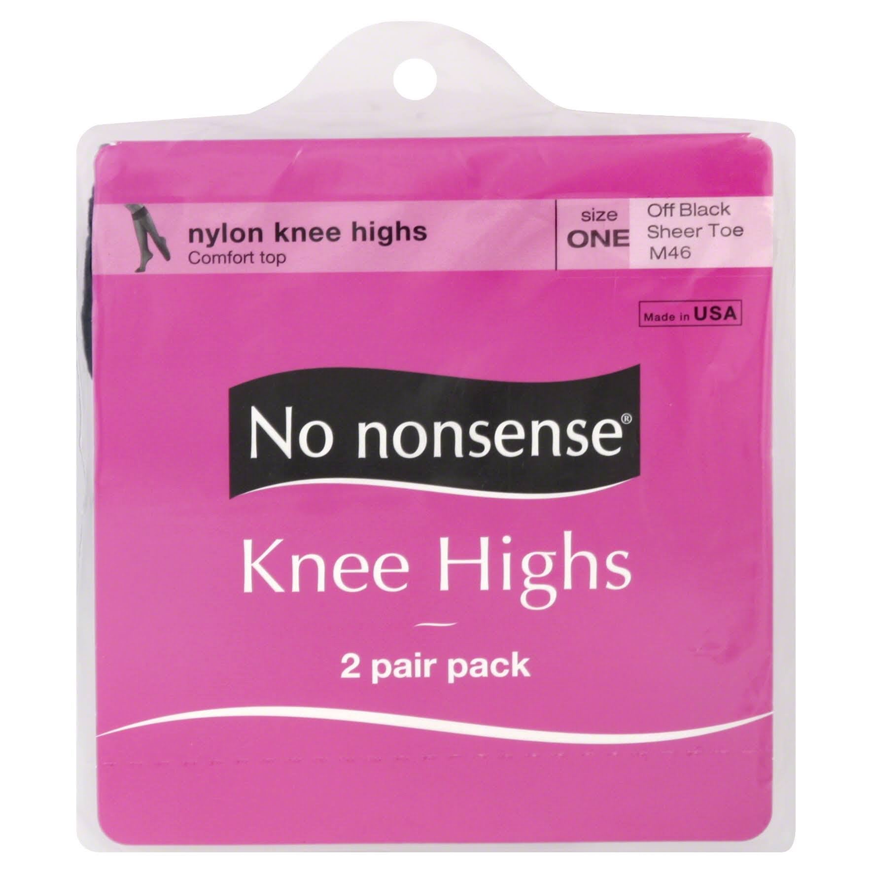 No Nonsense Knee High - One Size, Off Black