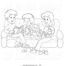 Royalty Free Stock Family Designs Of Coloring Book Pages