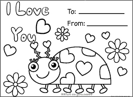 Coloring Pages Valentines Cards Printable