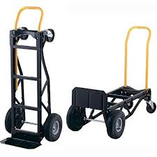Convertible Hand Truck 700 Lb Dolly Pneumatic Wheels Heavy Duty ...