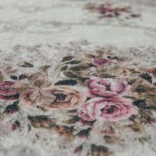badezimmer teppich set florale ornamente waschbar