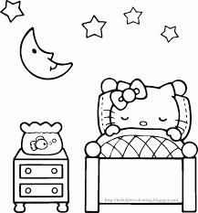 Hello Kitty Coloring Pages Cute Pictures Cartoons