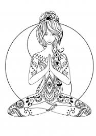 Yoga Coloring Page Easy