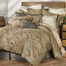 Aerobed With Headboard Uk by Bedroom Fresh Orange Paisley Bedding With Brown Headboard And