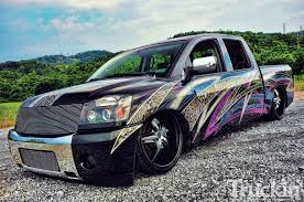 2007 Nissan Titan - Bought, Not Built - Custom Graphics - Truckin ... The 16 Craziest And Coolest Custom Trucks Of The 2017 Sema Show Auto Spray Pating Car Paint Shop Gold Coast Vehicle 98 Chevy Custom Truck Paint Job Google Search Places To Visit Truck Designs Save Our Oceans Gmc Cover Basic To Blazing Photo Image Gallery American Classics Dignjees F250 Youtube Chevy Let Kid Rock Design A Silverado 3500 Dually Its Actually A Fragment Of Large Commercial Semi With Modern Design Lucky Luciano Hino Offer Schemes Get Shorty Job Hot Rod Network Farm Superstar Kindigit 54 Ford F100 Street