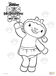 Lambie From Doc McStuffins Coloring Page And Mcstuffins Printable Pages