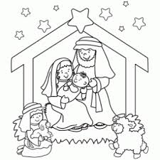 Baby Jesus Coloring Pages For Preschoolers