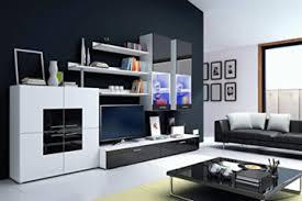 furnistad moderne wohnwand lemmy exklusive mediamöbel wohnzimmerschrank anbauwand tv schrank led beleuchtung gratis kostenfreie lieferung