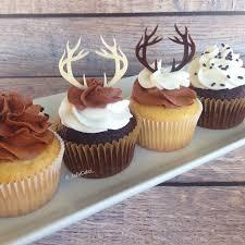 Antler Cupcake Topper Deer Head Cake Woodland Hunting