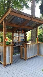 diy how to build a shed backyard bar metal panels and backyard