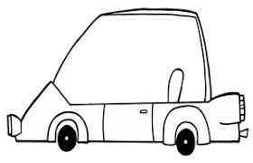 Car Clipart Image Cartoon Coloring Page