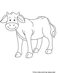 Printable Animal Baby Cow Coloring Page
