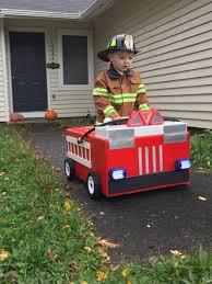 Firetruck Costume. Toddler Boy Fireman Costume. Halloween DIY ...