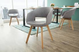 esszimmerstuhl 2er set stuhl strukturstoff grau eiche dunord
