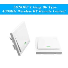 sonoff taster wandleuchte schalter fernbedienung 1 86 typ ein aus schalter panel 433 mhz wireless rf fernbedienung sender mit aufklebern freie