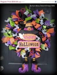 Grandin Road Halloween Wreath by Halloween Skeleton Black U0026 Gold Deco Mesh By Wreathwhimsybyrobin