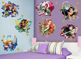 dc super hero girls star wall decal set set